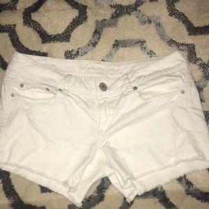 American eagle white jean shorts